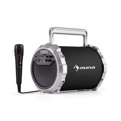 auna DR Bang Enceinte Bluetooth 21 USB SD AUX Batterie Micro inclus noir