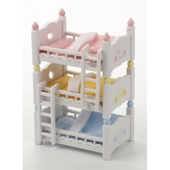 Sylvanian Families Lits Superposes Triple Triple Bunk Beds