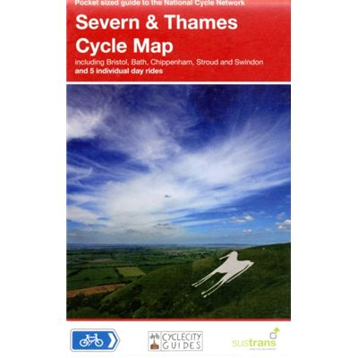 Severn And Thames Cycle Map (Pocket Sized Guide To The National Cycle Network) (Map)
