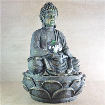 Fontaine D Interieur Bouddha Meditation En Resine 15x15x20cm