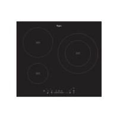 Whirlpool ACM 801 NE - Table de cuisson à induction - 3 plaques de cuisson - Niche - largeur : 56 cm - profondeur : 49 cm - noir