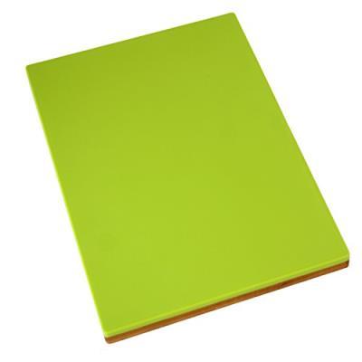 Pame 05588-set de 2 planches à découper en polyéthylène vert et bois