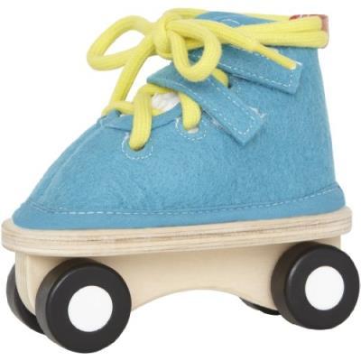 Hape - e1020 - loisirs créatifs - patins à lacer - bleu