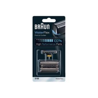 Braun 51B WaterFlex - tête et lame de rechange - noir