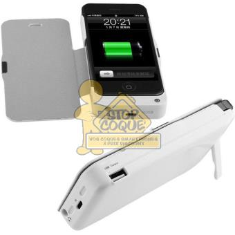 flip coque batterie blanche pour iphone 5 5s achat prix fnac. Black Bedroom Furniture Sets. Home Design Ideas