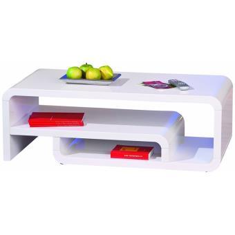 meuble tv lorenzo blanc dim 120 x 60 x 42 cm pegane meuble tv achat prix fnac