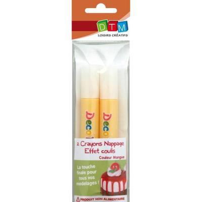 Crayon de nappage effet coulis - Mangue - 2 pièces - DTM