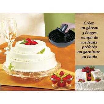 Le Moule à Gâteau 3 étages Avec Puits Deco Maison Ustensile Cuisine
