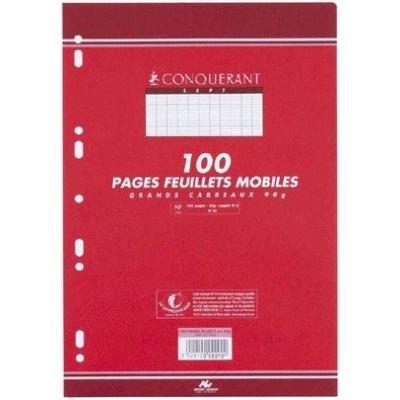 Conquerant sept - conquerant sept feuillets mobiles 210 x 297 sèyes, 90gr 200 pages hamelin (759) 100102150