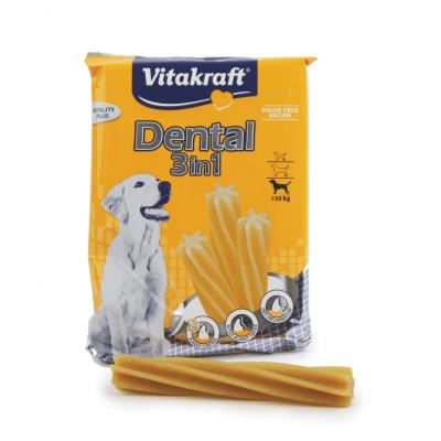 Bâtonnets à mâcher vitakraft dental 2 en 1 moyens et gros chiens sachet 180 g