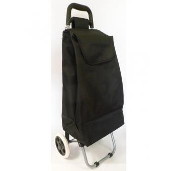 Caddie Courses chariot de courses uni noir - caddie, poussette de marché - achat