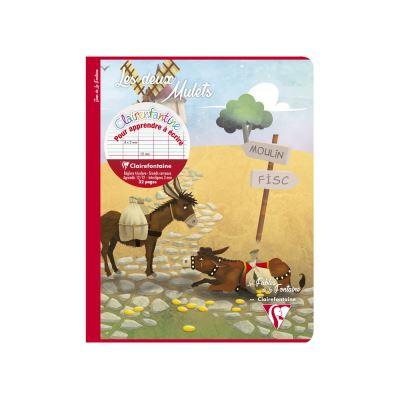 Cahier D?Écriture Grands Carreaux - 17 x 22 cm - Les Deux Mulets