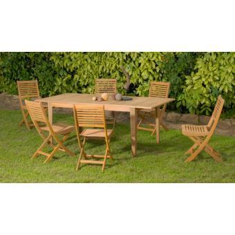 Proloisirs - Salon de jardin Montevideo 1 table + 6 chaises ...