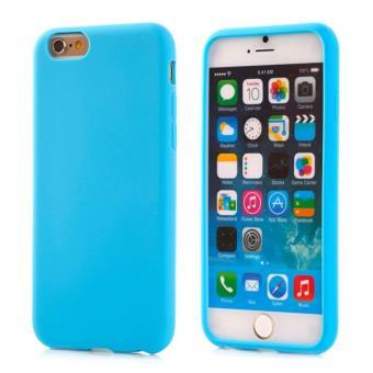 Etui houe coque silicone tpu ozzzo bleu clair pour APPLE IPHONE 5C