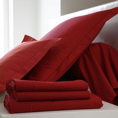 Housse de couette Coton BLANC DES VOSGES 260 x 240 cm Carmin