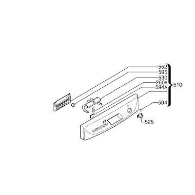 Arthur Martin Electrolux Bandeau Complet Tep 510 Ref: 152773630