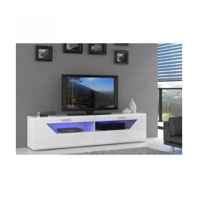 saphir meuble tv 200 cm blanc brillant - meuble tv - achat & prix   fnac