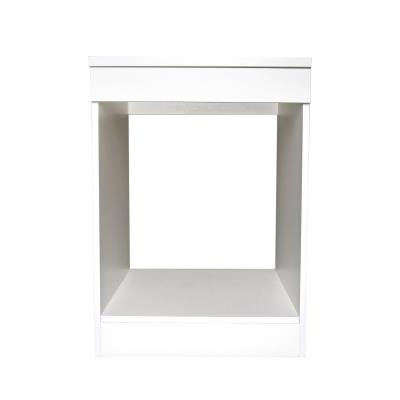 Brandy Best MPF60-B Meuble Plaque Four 60 cm Blanc
