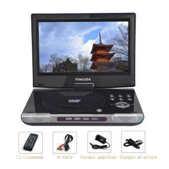 noir 10 lecteur dvd portable hd cran lecteur dvd. Black Bedroom Furniture Sets. Home Design Ideas