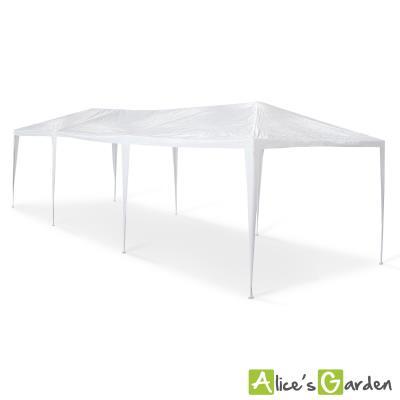 Tente de jardin pergola 3x9m Massilia toile blanche - 27 m ² - barnum  tonnelle chapiteau réception - Alice\'s Garden