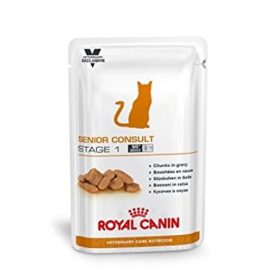 Royal Canin - Royal Canin Vet Care Nutrition Cat Senior Consult Stage 1 Sachet 12 x 100 grs
