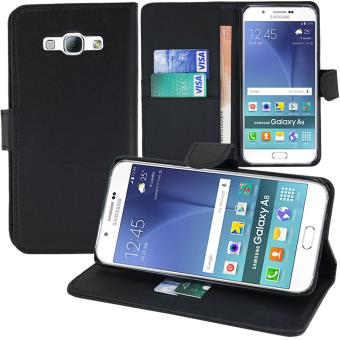 Etui Portefeuille Support Video Cuir PU Pour Samsung Galaxy A8 Duos SM A800F A800Y