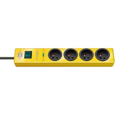 Brennenstuhl - brennenstuhl multiprise parafoudre hugo!, 4 prises, jaune 1150611364