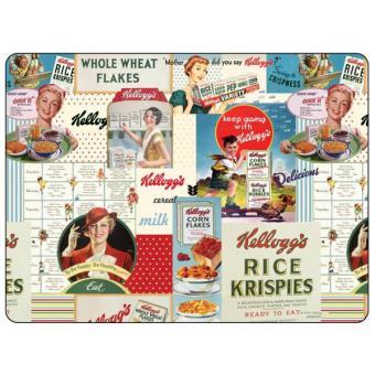 4 Sets de table rectangulaires rigides Vintage Kellogg\'s- Pimpernel ...