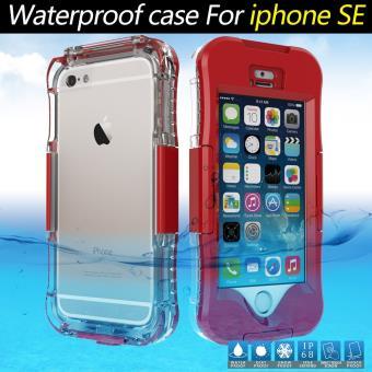 Coque etanche IP68 10M Etanche Diving pour iPhone SE 5s 5 Rouge