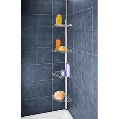 Wenko 8145500 étagère d'angle en inox pour douche 275 x 20 cm