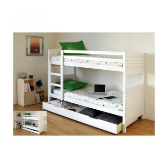 woopi lit superpos enfant tiroir pin blanchi achat prix soldes fnac. Black Bedroom Furniture Sets. Home Design Ideas