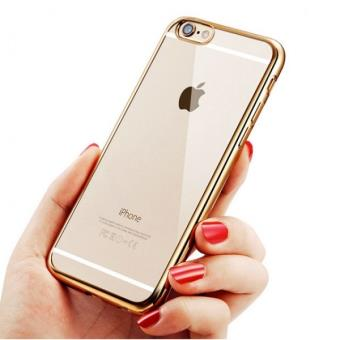 Coque Silicone Contour IPHONE SE APPLE Chrome Transparente Bumper Protection Gel Souple Houe Etui OR