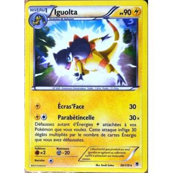 carte pokemon vigueur spectrale carte Pokémon 30/119 Iguolta 90 PV SUPER RARE XY04 Vigueur