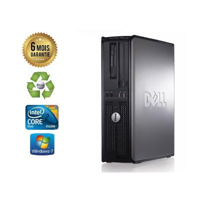 Unite Centrale Dell 780 SFF Core 2 Duo E7500 2,93Ghz Mémoire Vive RAM 4GO Disque Dur 120Go SSD Graveur DVD Windows 7 - Processeur Core 2 Duo E7500 2,93Ghz RAM 4GO HDD 120Go SSD