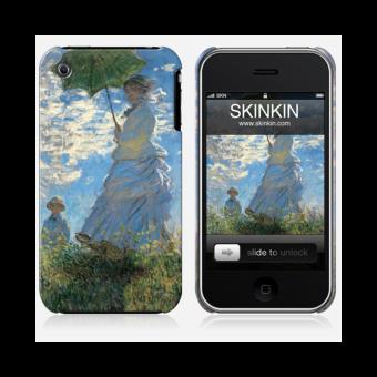 Coque iPhone 3 de chez Skinkin Design original Femme a l Ombrelle par Claude Monet