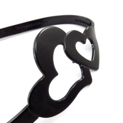 Serre-tête souple 'Love' noir