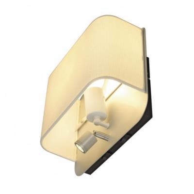 lampe liseuse pour lit accanto spot round led h24 cm blanc achat prix fnac - Lampe Liseuse Pour Lit