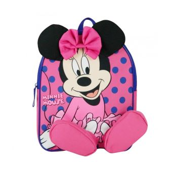 magasin d'usine b42e1 7ba29 Sac à dos goûter Maternelle Disney Minnie 31cm Rose