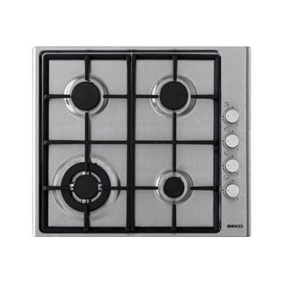 Beko HIZG 64121 SX - Table de cuisson au gaz - 4 plaques de cuisson - Niche - largeur : 56 cm - profondeur : 49 cm - acier inoxydable