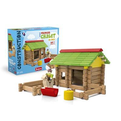 Jeujura - 8230 - jeu de construction - mon premier chalet en bois - 64 pièces