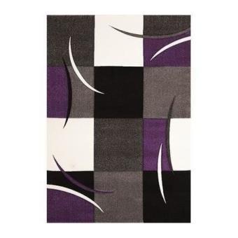 Tapis DIAMOND 665-950 violet 80x150 AMZ Tapis Moderne par Unamourdetapis 80  x 150 cm