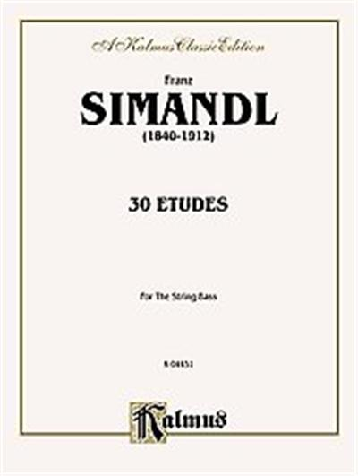 Franz Simandl (1840-1912) 30 Etudes for The String Bass