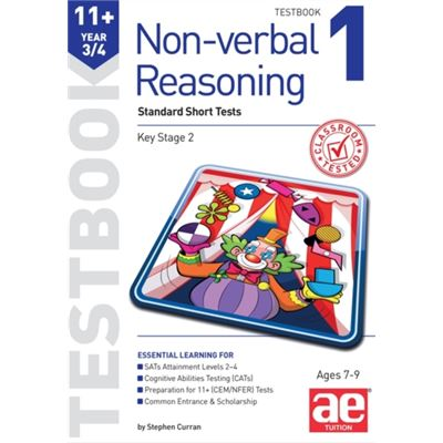 11+ Non-Verbal Reasoning Year 3/4 Testbook 1: Standard Short Tests (11+ Non-Verbal Reasoning Year 3/4 Workbooks For Children) (Paperback)