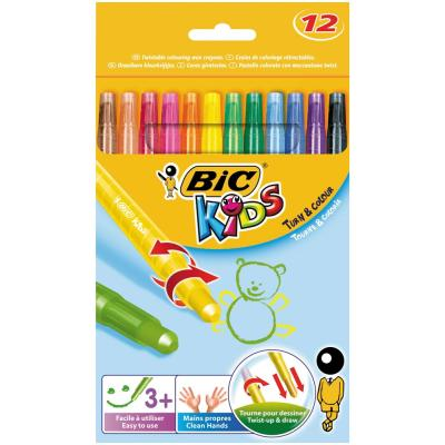 12 Craies de coloriage BIC Kids TURN & COLOUR