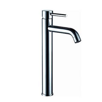 Robinet salle de bain avec une poignée, design simple et contemporain pour  une finition chromée