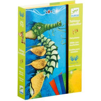 Kit de dessin Djeco Tableaux à métalliser Dragons pour enfants de 7 à 13 ans