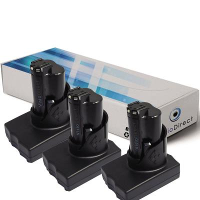Lot de 3 batteries pour AEG Milwaukee 2454-22 clé à chocs 3/8 po 3000mAh 12V - Visiodirect -