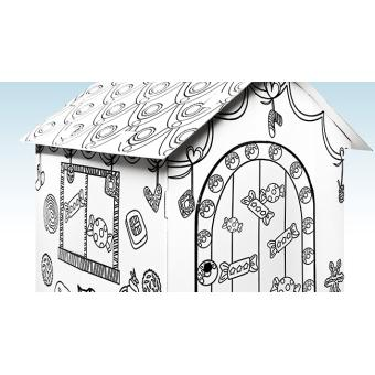 Grande Maison En Carton Avec Kit Peinture Bonbons Autres Jeux