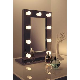 Maquillage Noir Led Miroir De Hollywood Lampes Blanc Chaudes K218ww VUSMpz