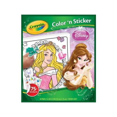 Crayola - Disney Princess - Color 'n Sticker - Autocollants à Colorier